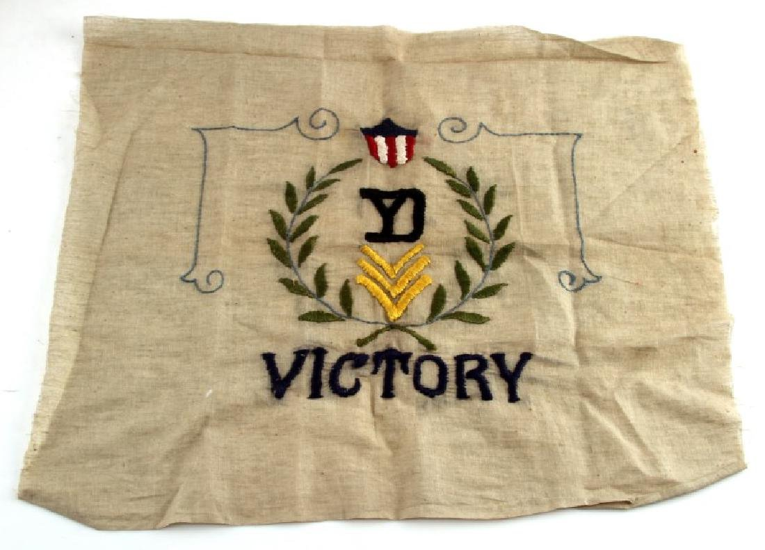 WWII ERA US OLIVE GREEN SMALL VICTORY FLAG