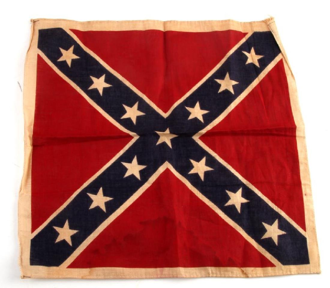 SMALL VINTAGE CONFEDERATE REBEL FLAG