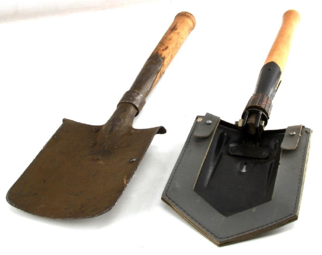 WWII GERMAN THIRD REICH TRENCH SHOVEL LOT OF 2