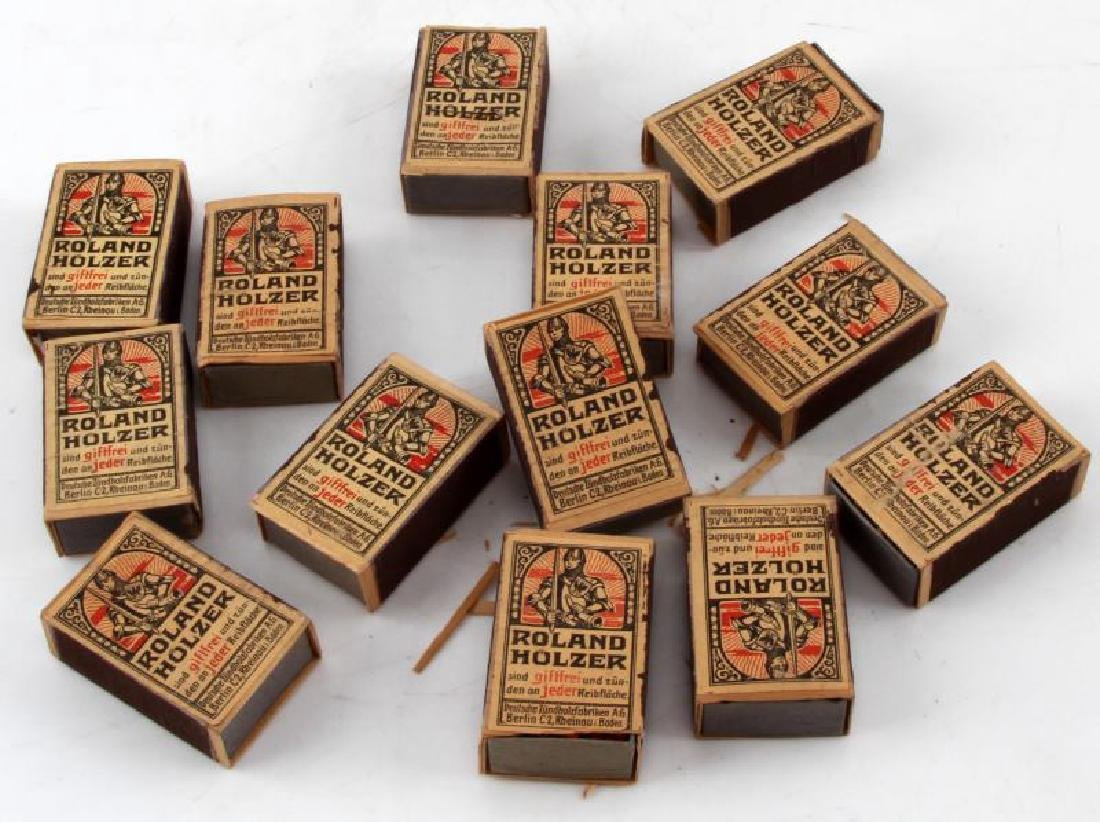 WWII GERMAN ROLAND HOLZER MATCH BOX LOT OF 13