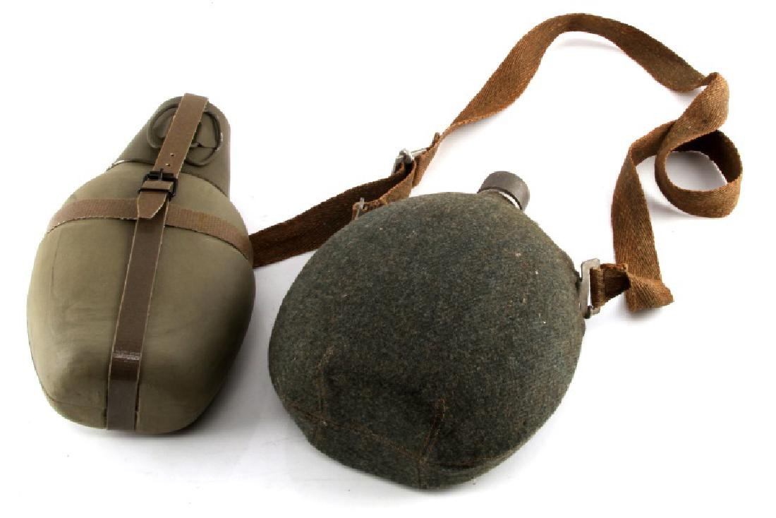 GERMAN ARMY CANTEEN WWII AND COLD WAR LOT OF 2