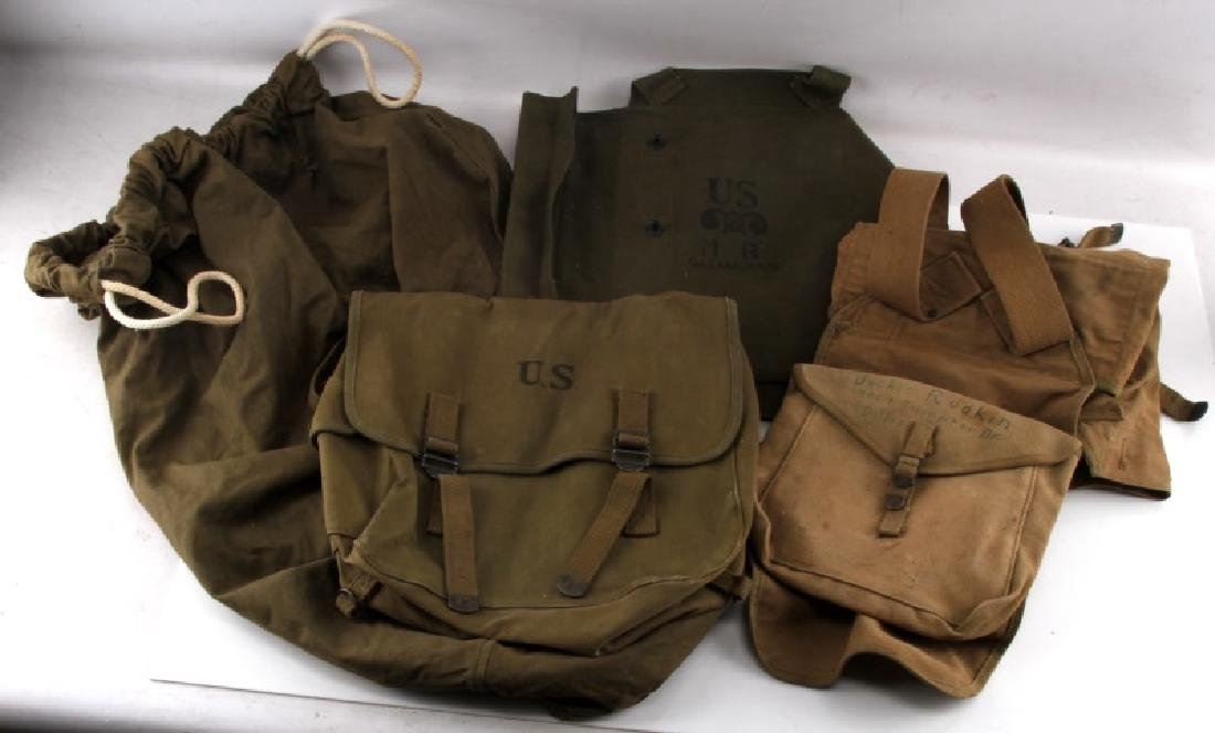 US MILITARY LOT OF 4 BAGS BACKPACK GAS MASK SACK