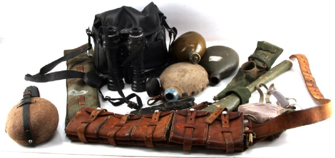 WWII & LATER MULTINATIONAL VARIED FIELD GEAR LOT