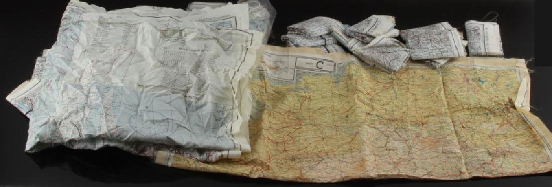 WWII US AAF SILK ESCAPE MAP CLOTH CHART LOT OF 45