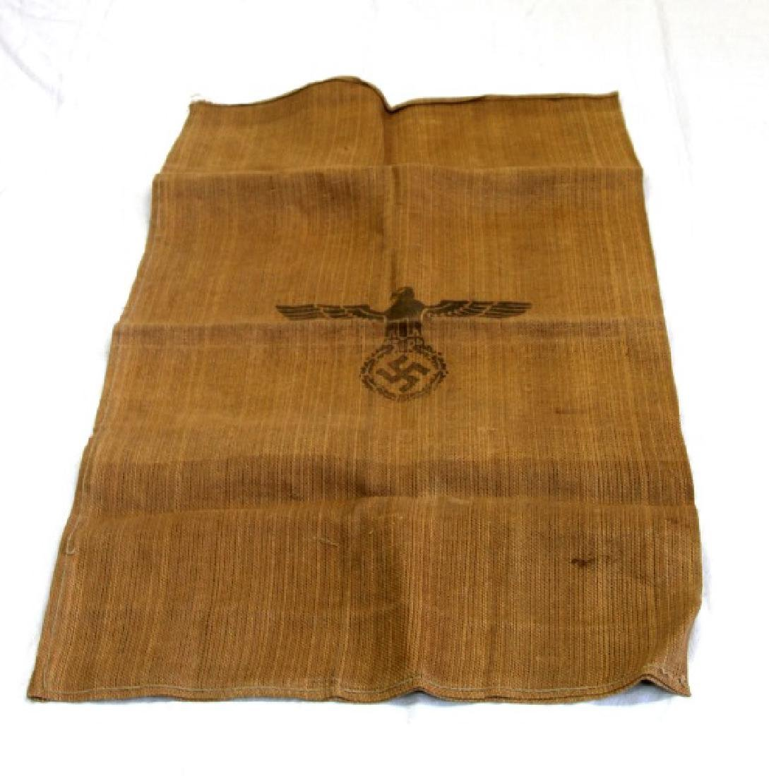 GERMAN WWII THIRD REICH LARGE BURLAP SUPPLY BAG