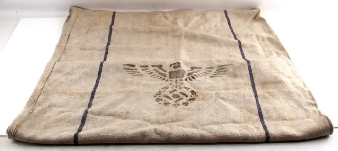 GERMAN WWII HEAVY BURLAP SUPPLY BAG 27X40 MARKED