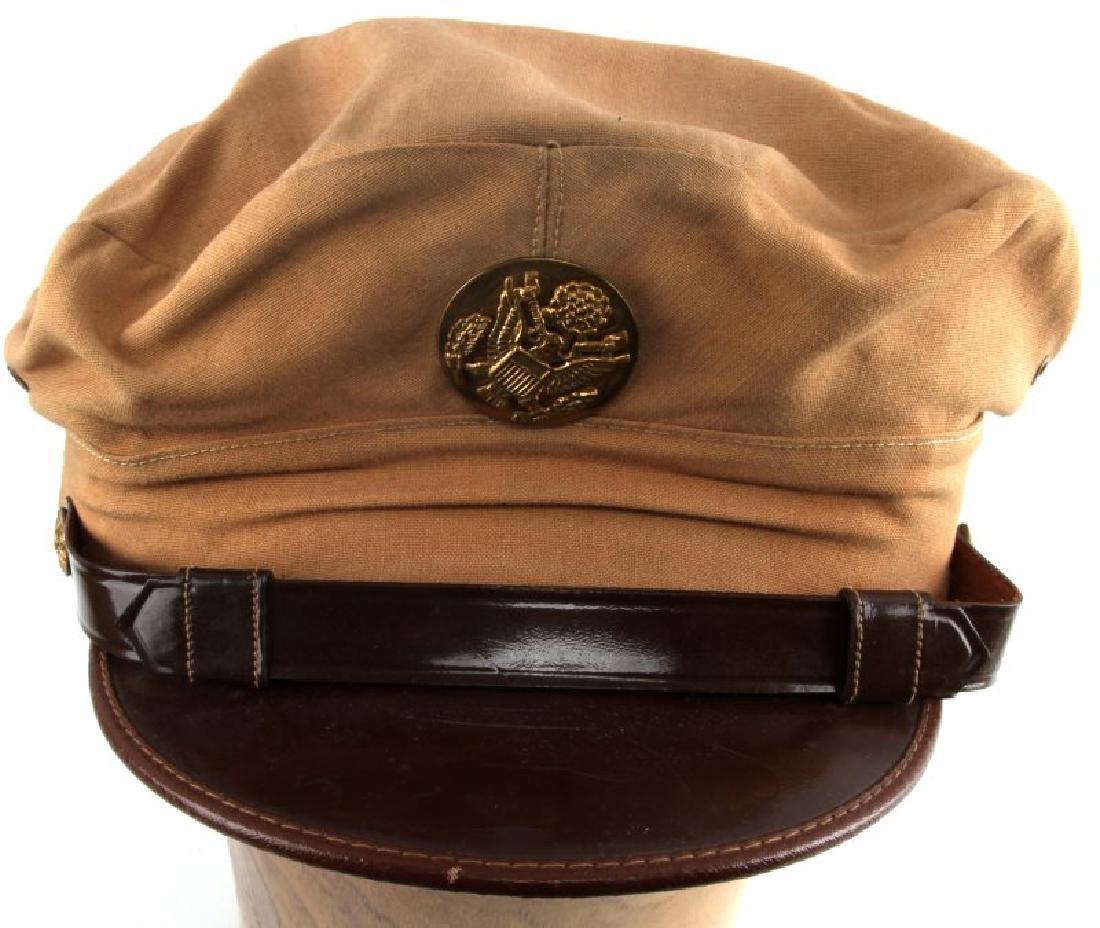 WWII US ARMY AIR FORCE KHAKI SUMMER CRUSHER CAP