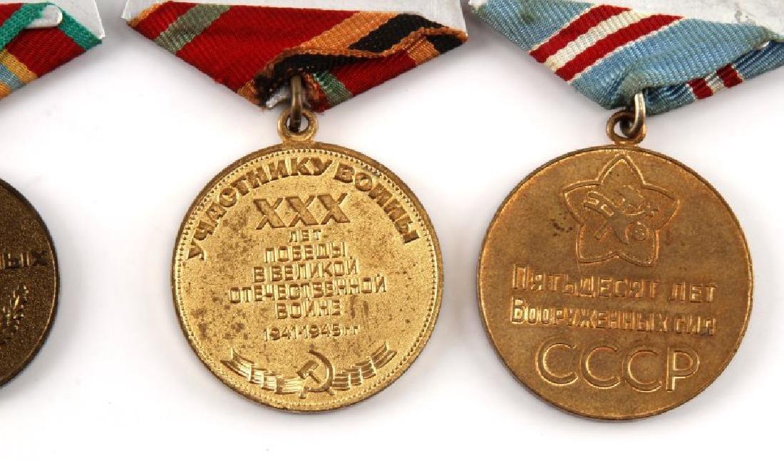 SOVIET ANNIVERSARY AND COMMEMORATIVE MEDAL LOT - 6