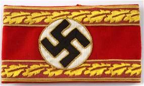 WWII GERMAN THIRD REICH NSDAP LEADER ARMBAND