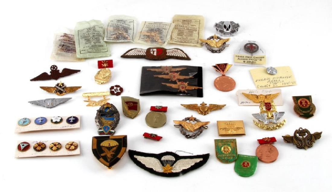 MULTI CONFLICT MILITARY WING BADGE & PATCH LOT
