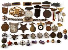 LARGE LOT ASSORTED MILITARY PINS USD RAF NRA ETC