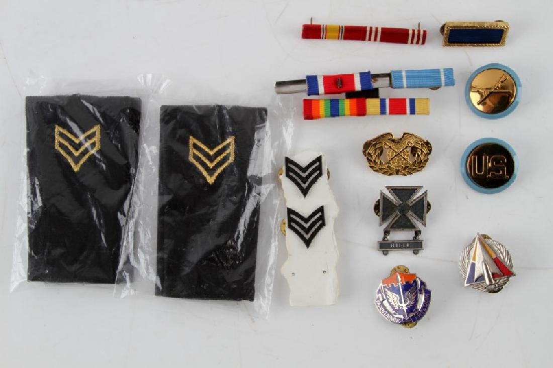 US MILITARY MIXED MEDAL AND RIBBON LOT MORE