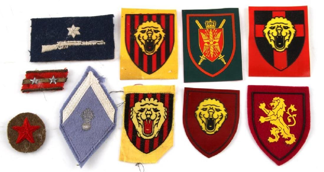 GROUP OF 10 MILITARY PATCHES VARIOUS NATIONALITY