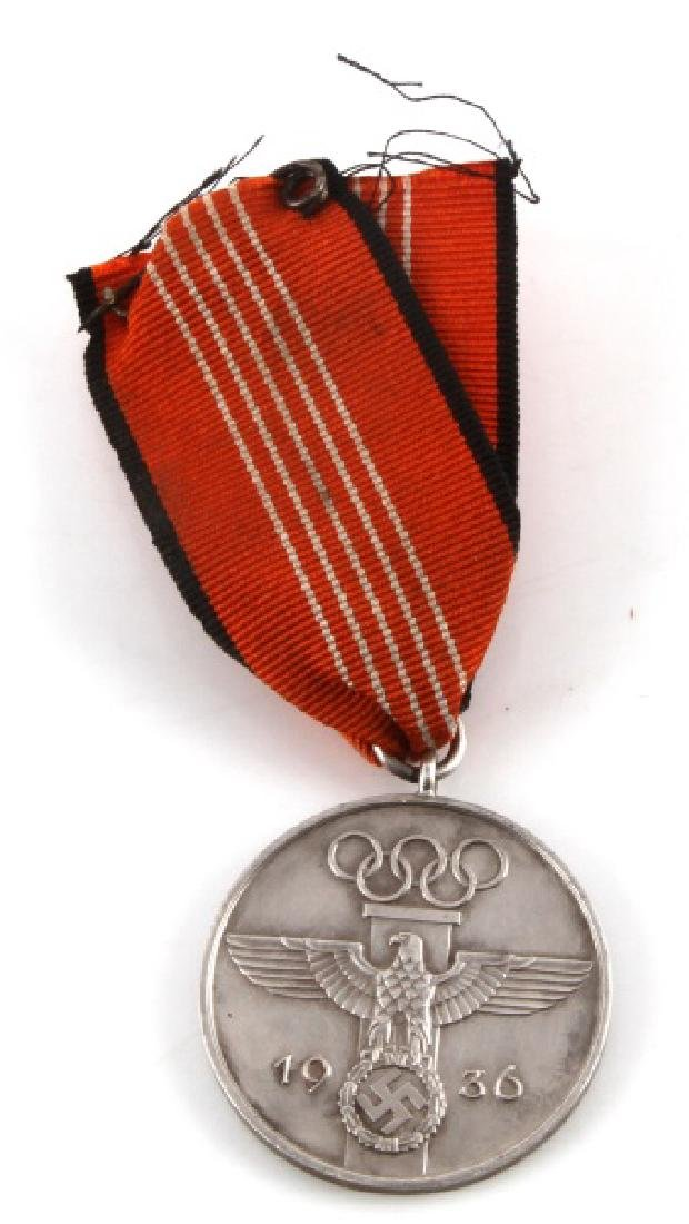 THIRD REICH GERMAN 1936 OLYMPIC MEMORY DECORATION
