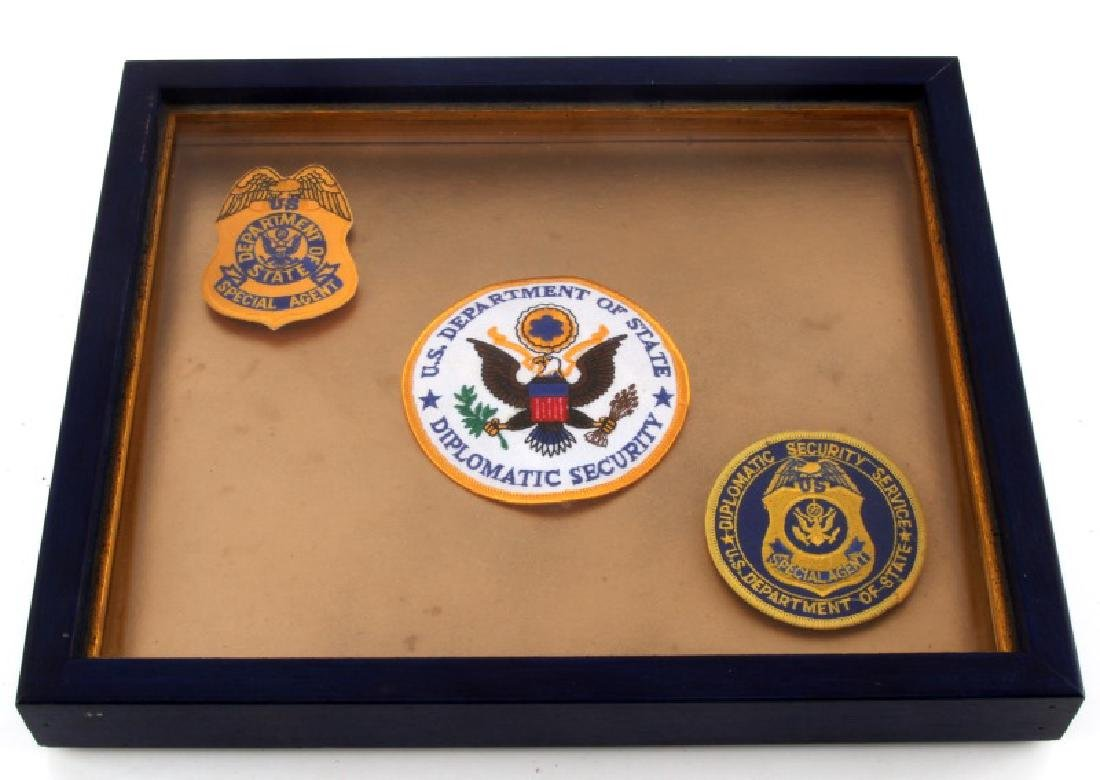 3 DISPLAYED US SPECIAL AGENT AND SECURITY PATCHES