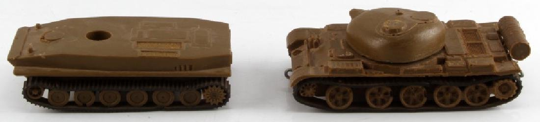 GROUP OF 2 POST WWII ERA MODEL ACETATE TOY TANKS