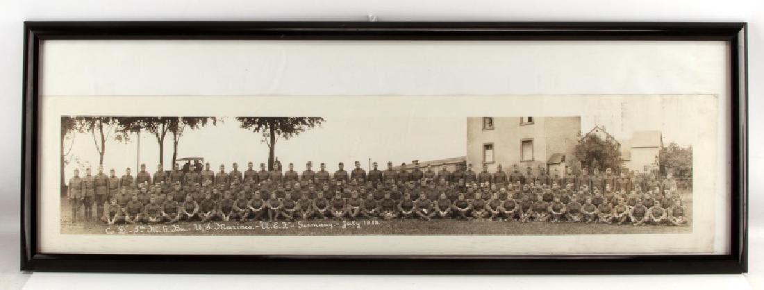 YARD LONG WWI USMC MILITARY SERVICE PHOTO 5TH MGB