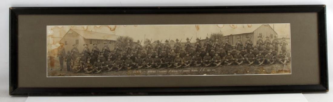 YARD LONG WWI ERA MILITARY MARINE TRAINING PHOTO