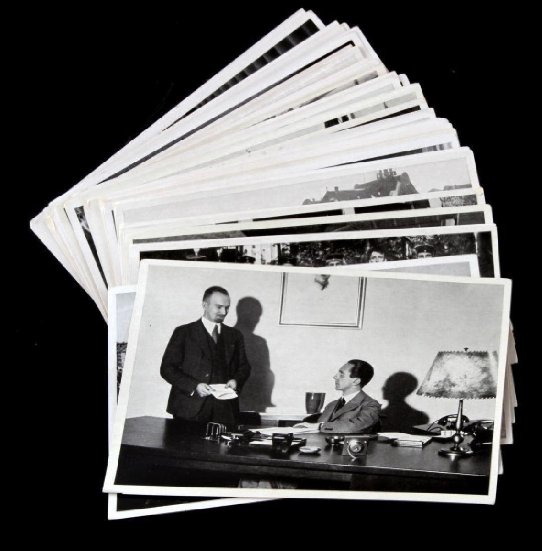 LOT OF 35 WWII PROPAGANDA PHOTOS ADOLF HITLER