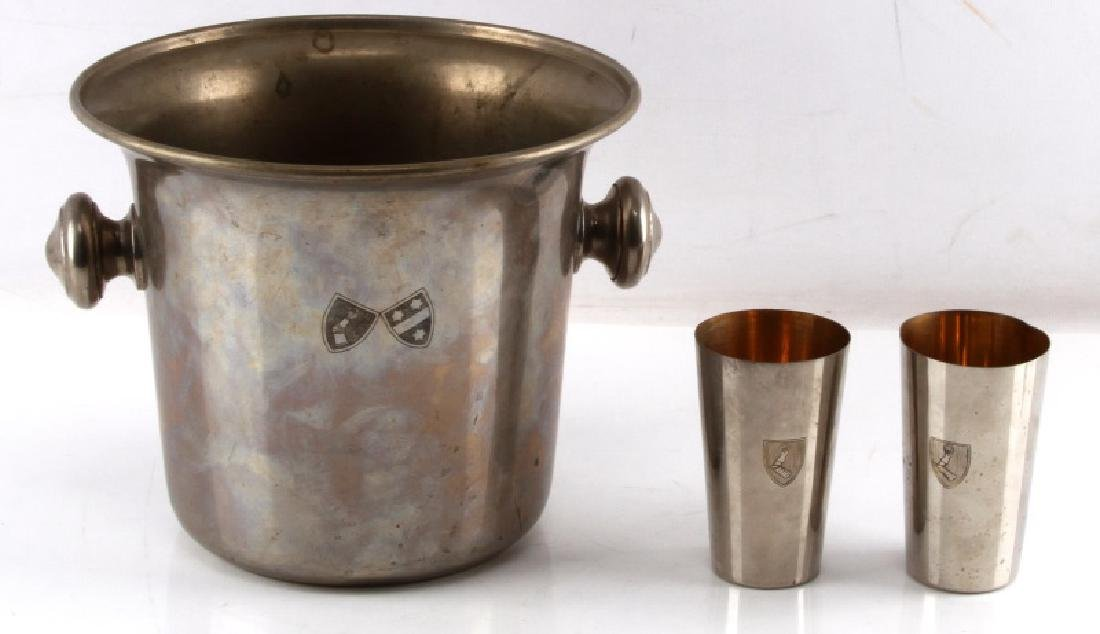 HERMANN GOERING FAMILY CREST ICE BUCKET & CUPS