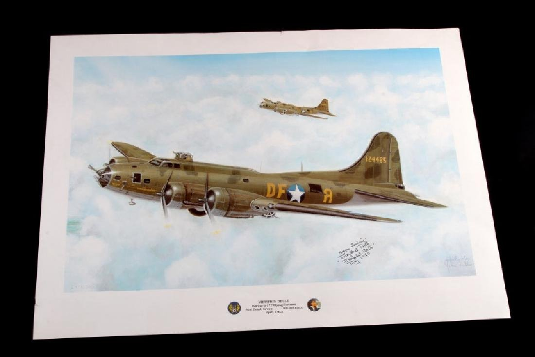 WWII MEMPHIS BELLE PRINT SIGNED BY MARGARET POLK