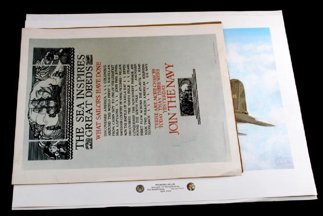 4 WWII MILITARY PRINT LOT FICKLEN LIMITED ED ETC