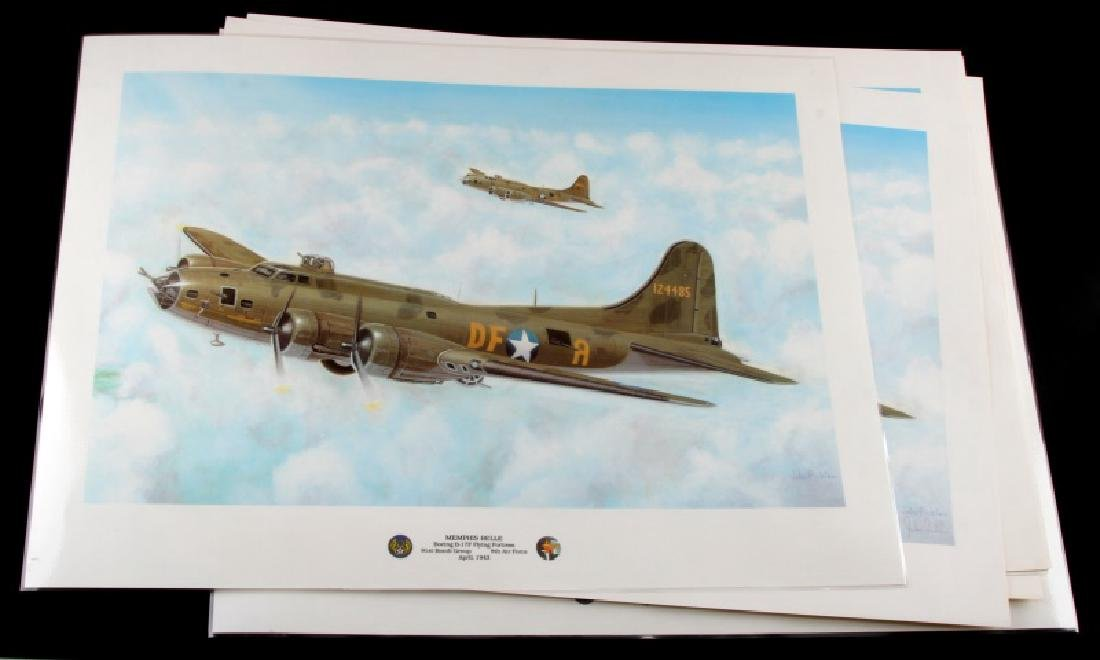 7 LTD ED WWII MEMPHIS BELLE PRINT LOT FICKLEN SIGN