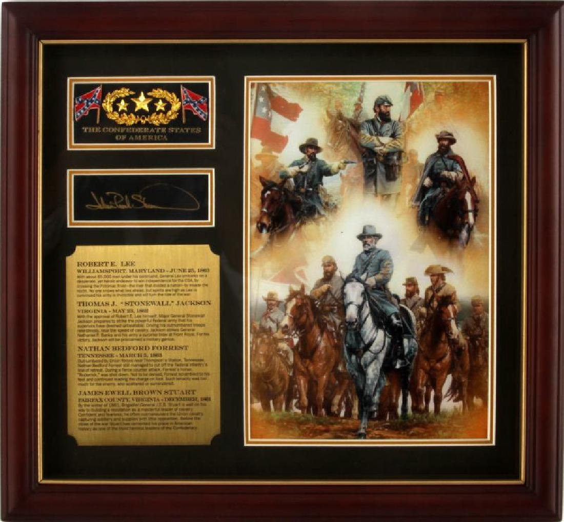 BRADFORD EXCHANGE CIVIL WAR  ANNIVERSARY PLAQUE