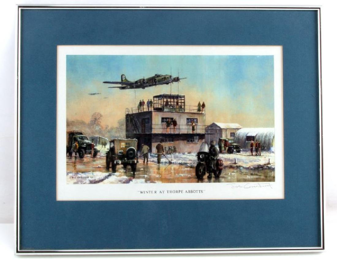 WWII WINTER THORPE ABBOTTS USAAF SIGNED CROWFOOT