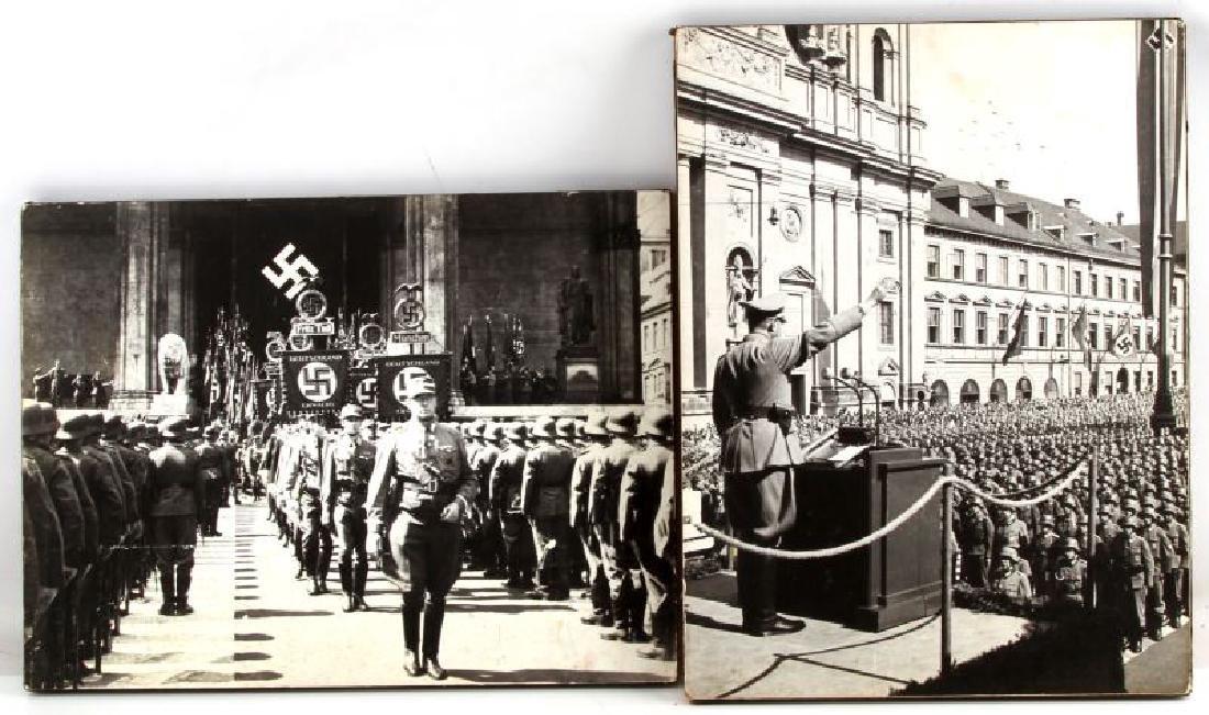 2 MODERN WWII GERMAN & ADOLF HITLER WALL HANGERS