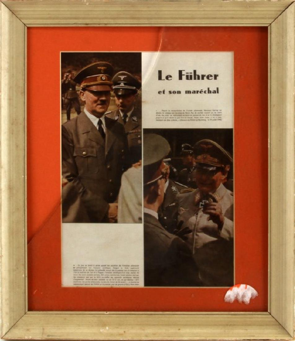 PRE WWII FRENCH ARTICLE ON HITLER AND GOERING