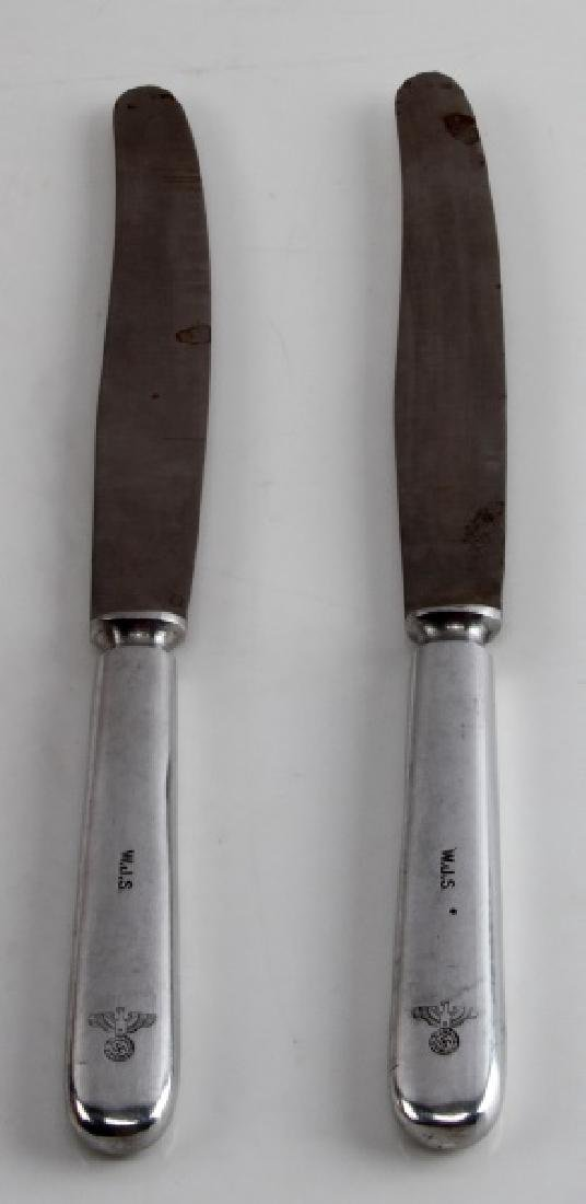 2 GERMAN WWII DINNER KNIFES EAGLE & MAKER STAMPED