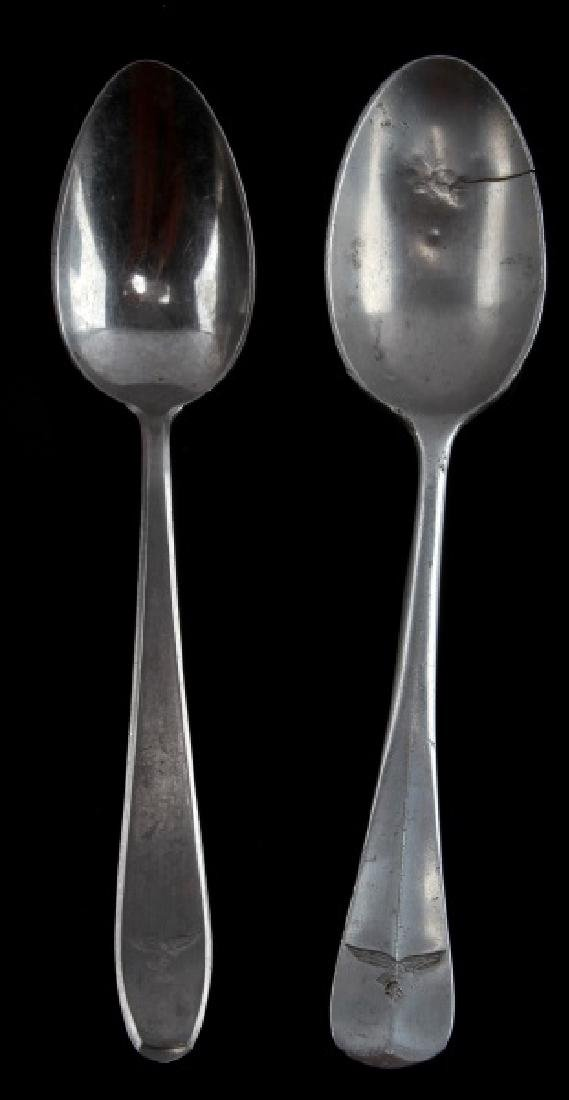 2 GERMAN WWII LUFTWAFFE SPOONS STAMPED