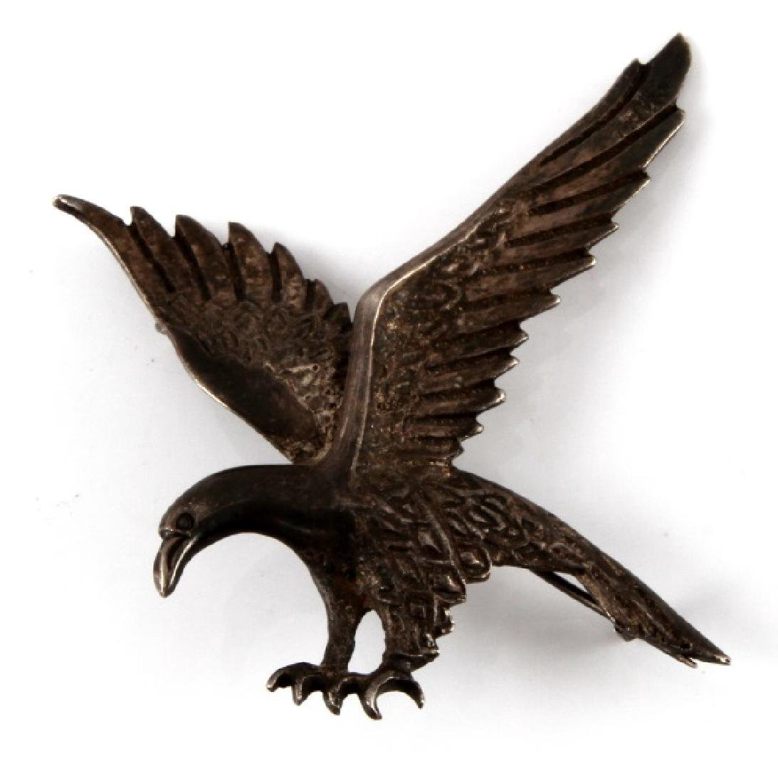 GERMAN WWII 3RD REICH SILVER EAGLE BROOCH