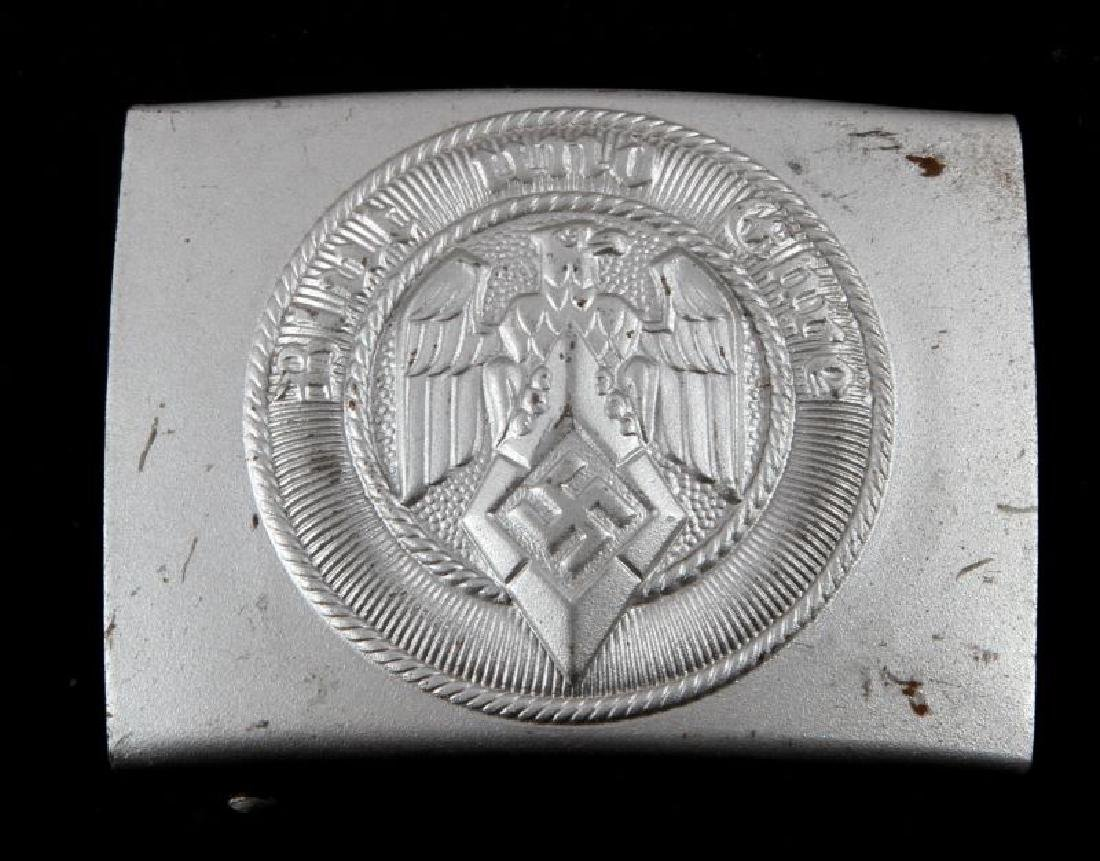 GERMAN WWII 3RD REICH HITLER YOUTH BELT BUCKLE RZM