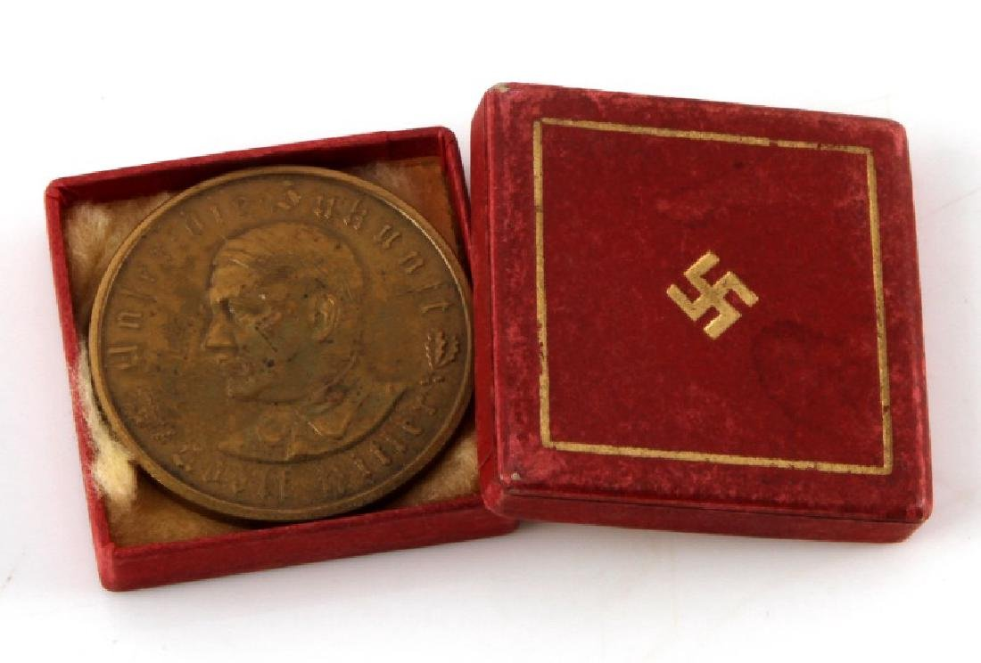 GERMAN WWII 3RD REICH ADOLF HITLER COIN W ORIG BOX