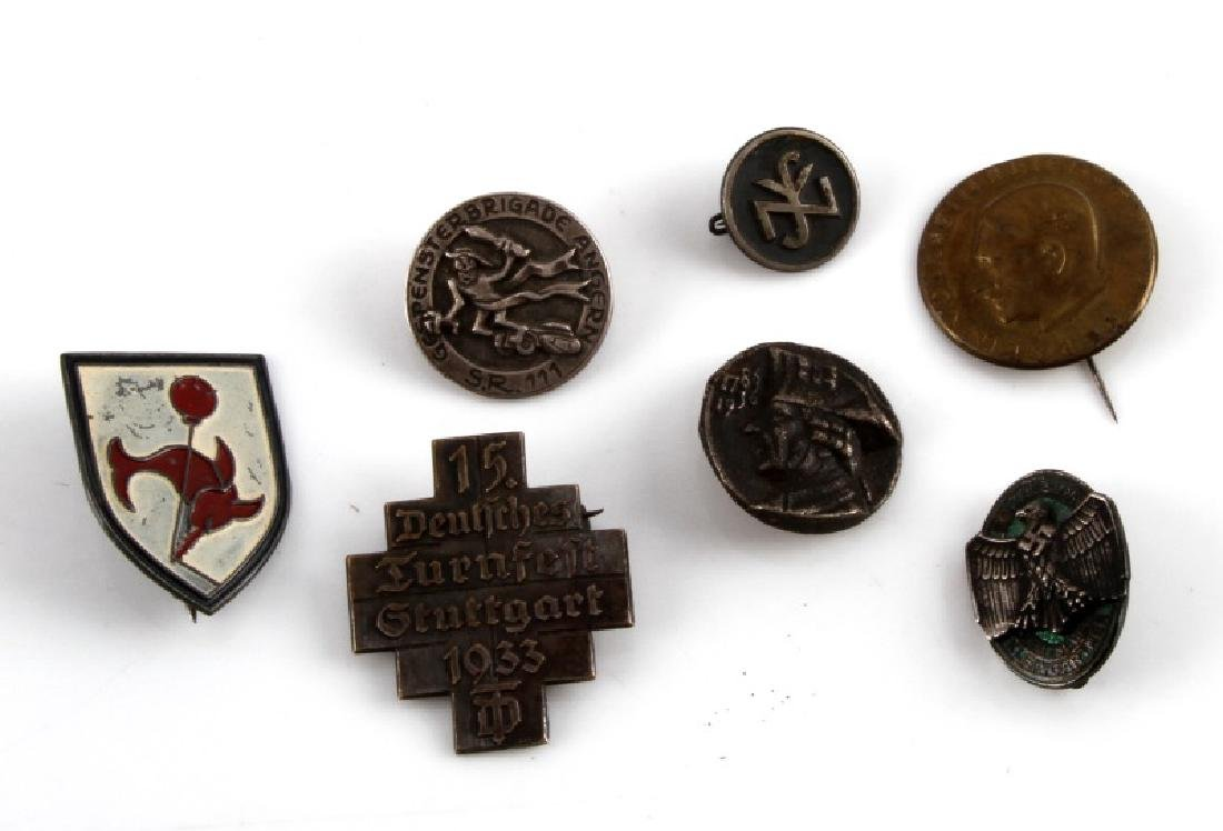 7 GERMAN WWII PIN LOT IMPERIAL EAGLE ETC