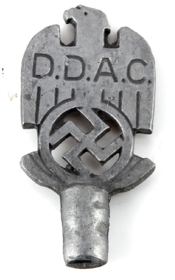 GERMAN WWII THIRD REICH PERIOD DDAC FLAG POLE TOP