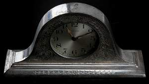 REED BARTON STERLING WALTHAM 8 DAY MANTLE CLOCK