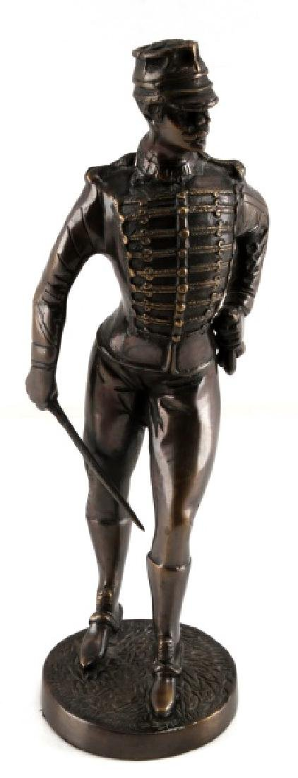 19TH CENTURY FRENCH OFFICER 14 INCH TALL BRONZE