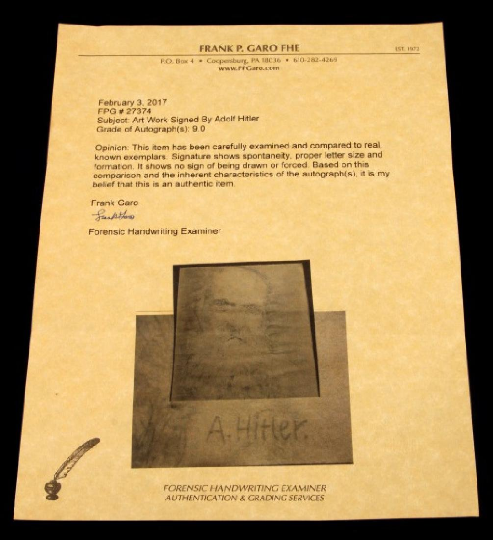 ADOLF HITLER SIGNED PENCIL SKETCH PORTRAIT W COA - 5