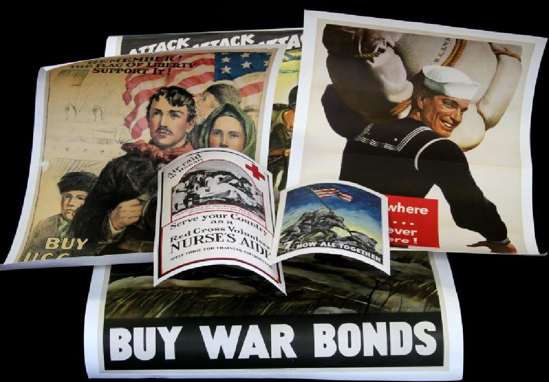 WWII U.S. MILITARY & RED CROSS RECRUITING POSTERS