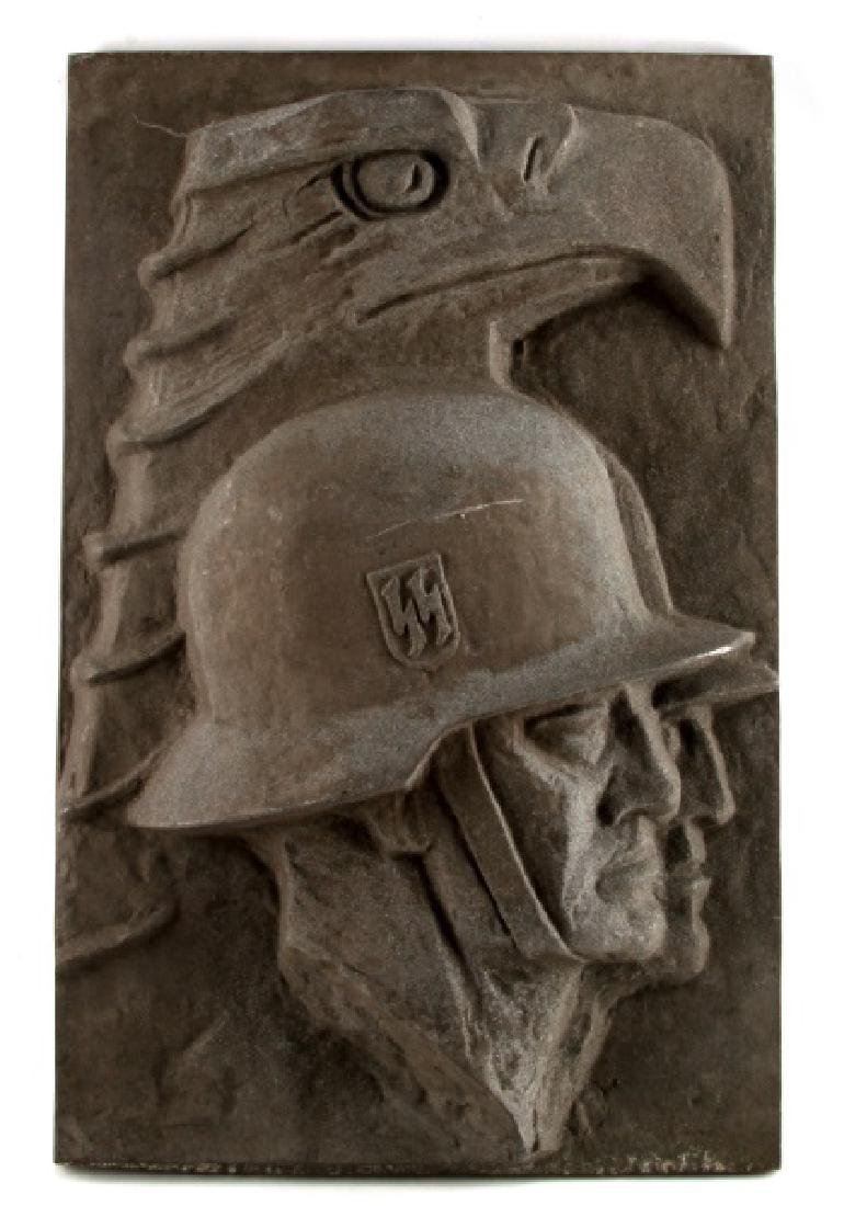 WWII GERMAN THIRD REICH LEIBSTANDARTE SS PLAQUE