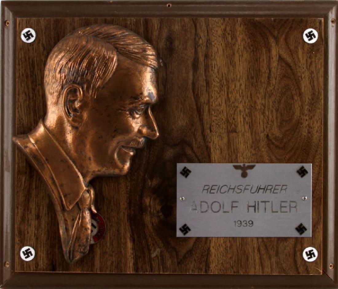 1939 REICHSFUHRER ADOLF HITLER BRONZE PLAQUE