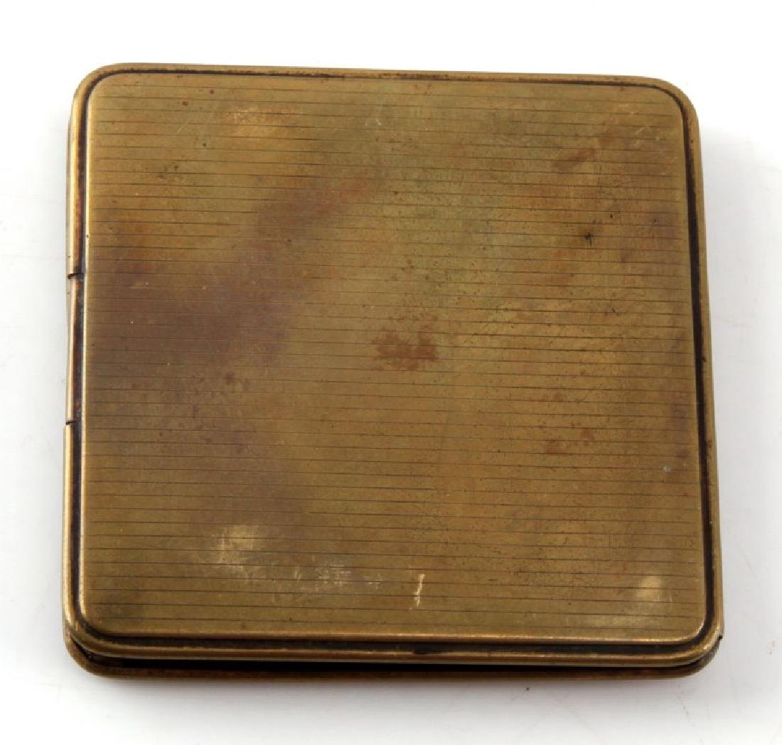 GERMAN WWII HITLER STYLE BRASS CIGARETTE CASE - 4