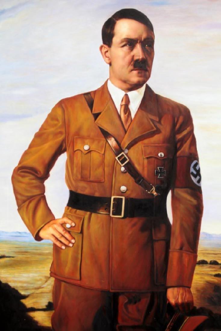 WWII NSDAP FRAMED FUHRER PORTRAIT OF ADOLF HITLER - 2
