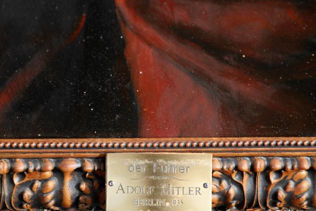 WWII NSDAP FRAMED FUHRER PORTRAIT OF ADOLF HITLER - 3