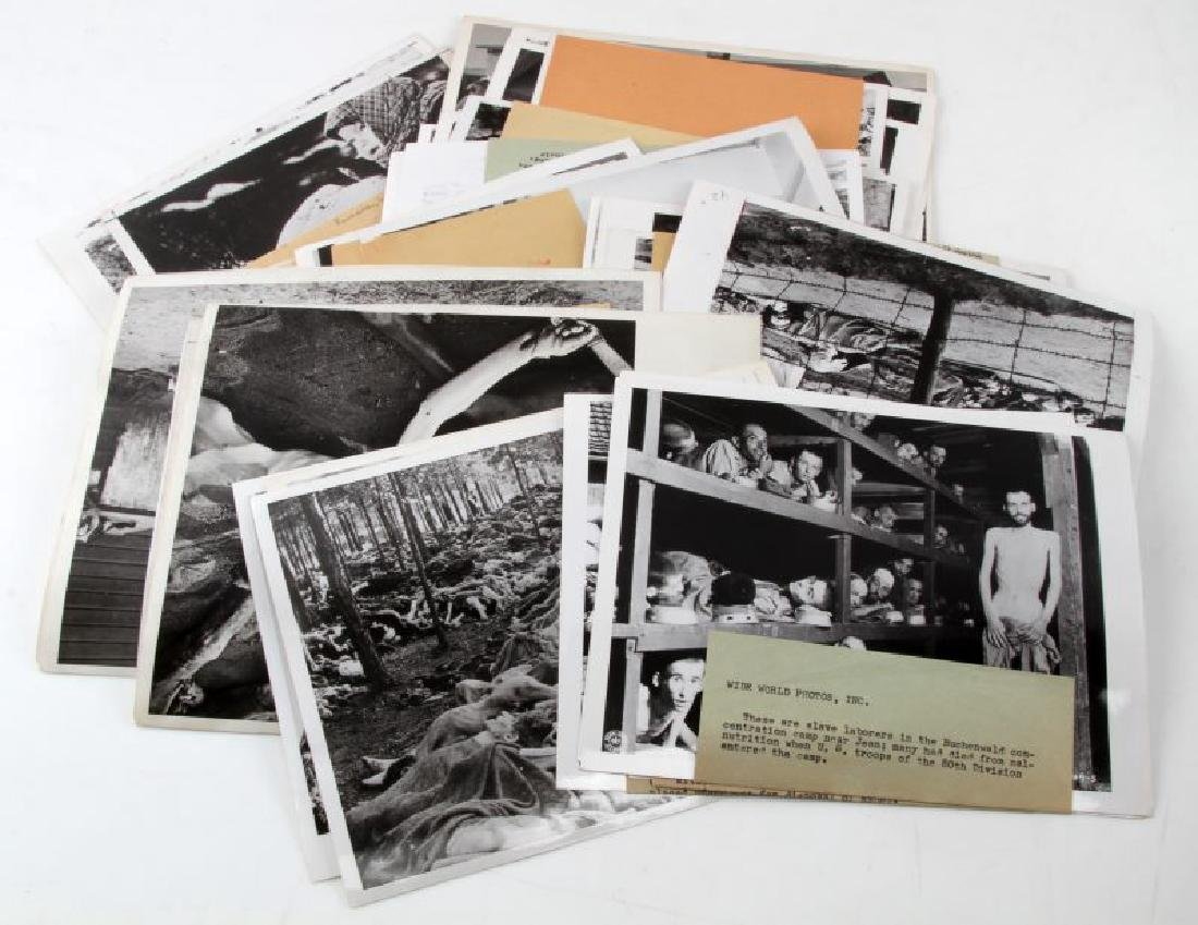 45 GRAPHIC PRESS PHOTOS OF CONCENTRATION CAMPS