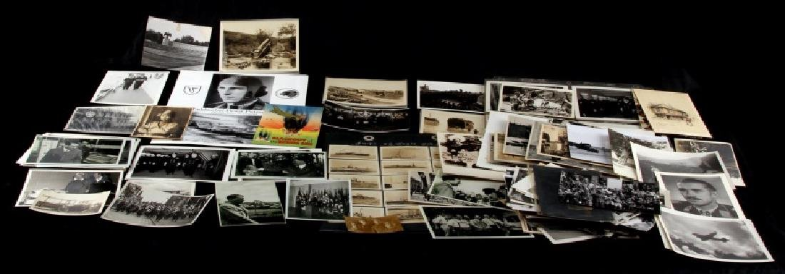 OVER 130 WWI WWII PHOTOGRAPH POSTCARD LOT