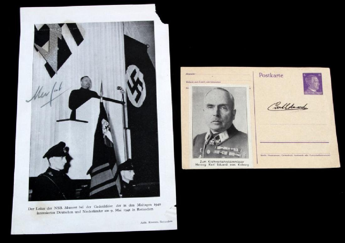 WWII GERMAN PRINCE KARL EDWARD MUSSERT SIGNATURES